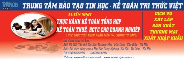 Công ty đào tạo Tin Học Kế Toán Tri Thức Việt